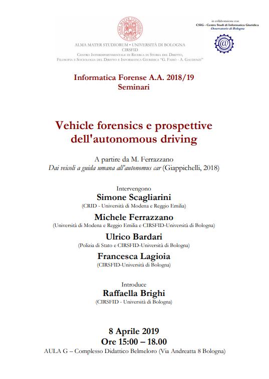 unibo informatica forense vehicle forensics
