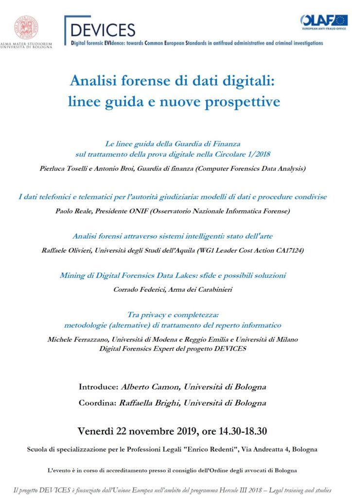 analisi forense di dati digitali