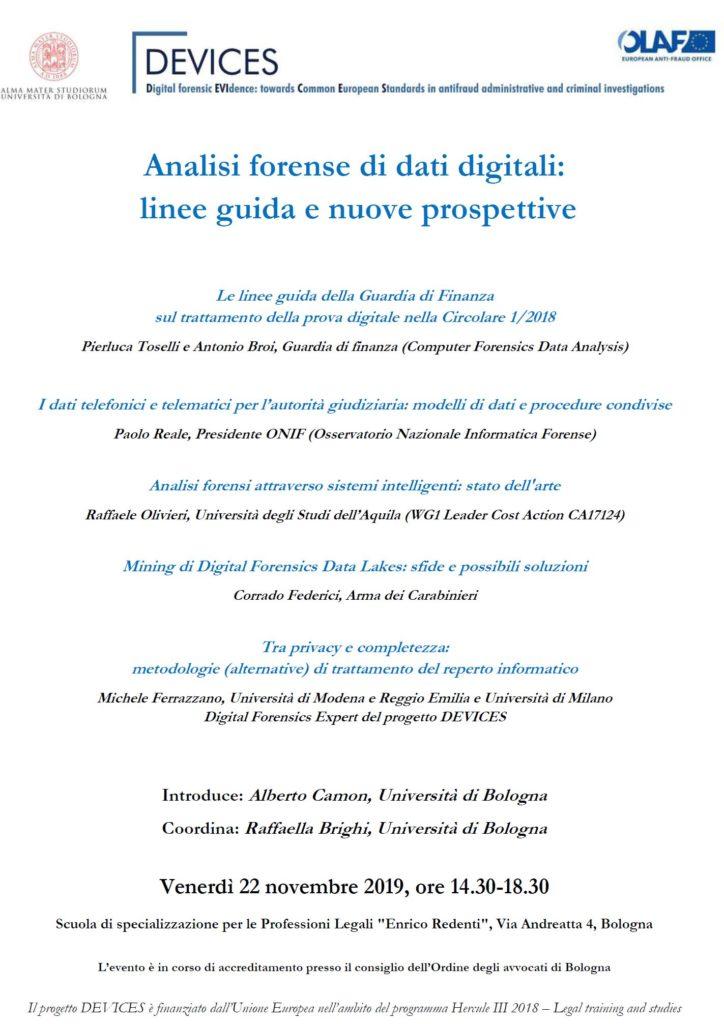 analisi forense di dati digitali